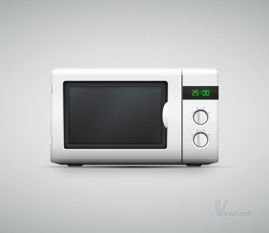 How to Create a Vector Microwave Oven Illustration