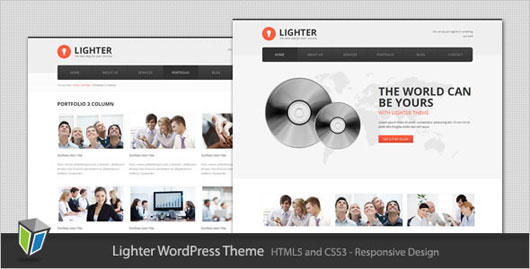 Lighter Responsive Business WordPress Theme