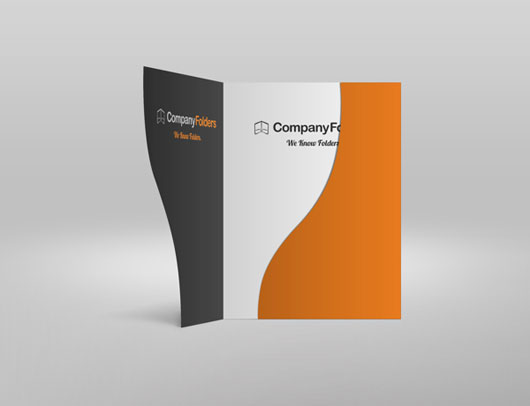 Serpentine Cut Business Presentation Folder