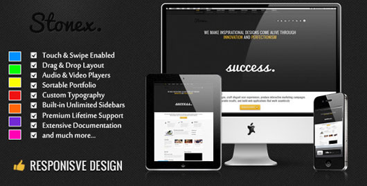 Stonex Business Responsive WordPress Themed