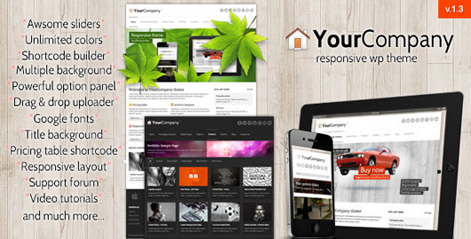 YourCompany Responsive Business WordPress Theme