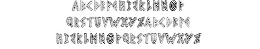 Scribble Table font