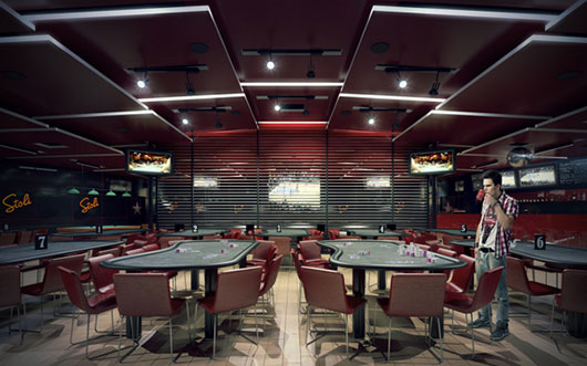 Poker club 3D Visualization
