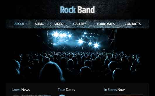 Band Free HTML5 Template