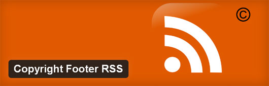Copyright Footer RSS