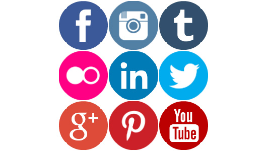 FREE COLOURED ROUND SOCIAL MEDIA ICONS