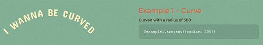 How to curve your text using CSS3 and jQuery - Arctext.js Responsive jQuery Plugin