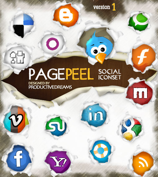 Page Peel A Free Social Media Iconset