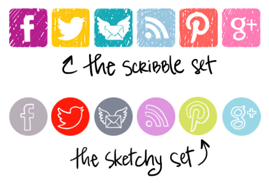 personalized social media icons on my blog