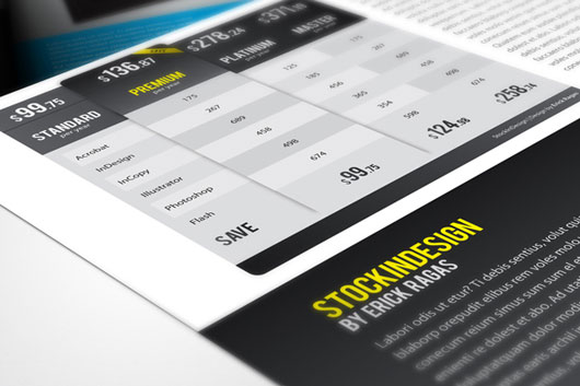 20 InDesign Modern Pricing Tables