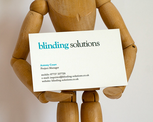 Blinding Solutions business card design