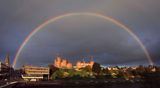 Inverness Castle With Rainbow