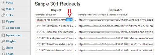 SEO Blogger to WordPress Migration using 301 Redirection