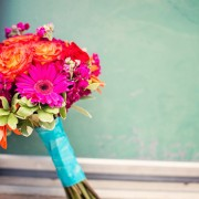 Flowers aqua bouquet rustic coral colorful real wedding modern wallpapers