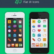Flat Ui icons iphone Preview