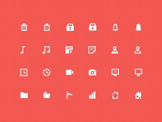 30 Vector Flat Icons