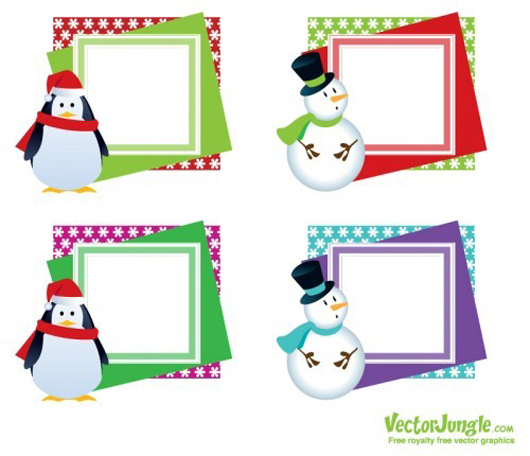 Christmas Vector Frames - Greeting Cards