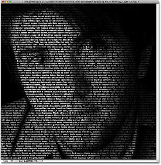 Create A Portrait From Text In Photoshop
