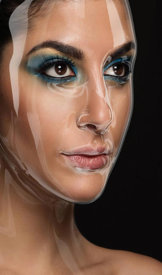 How to Apply a Plastic Mask Effect to a Portrait