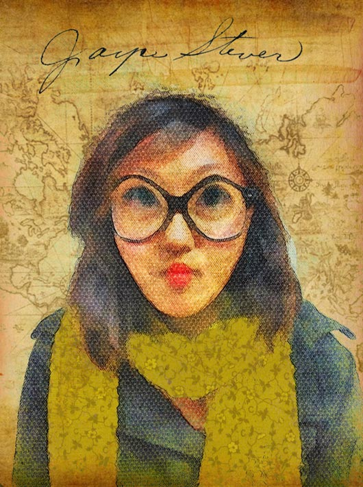 How to create this portrait using Funny Face and blending techniques