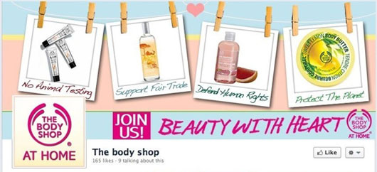 The Body Shop at Home Facebook Page Branding