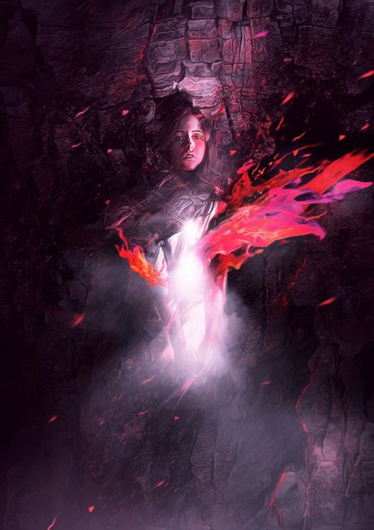 """The Process of Creating the """"Ascending Spirit"""" Digital Art in Photoshop"""