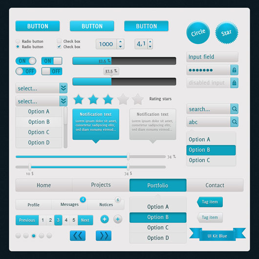 Blue UI Touch Kit