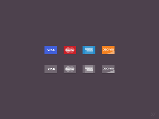 Credit Card Icons FREE PS