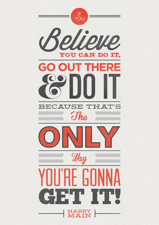 Do You Believe - Typography Quote