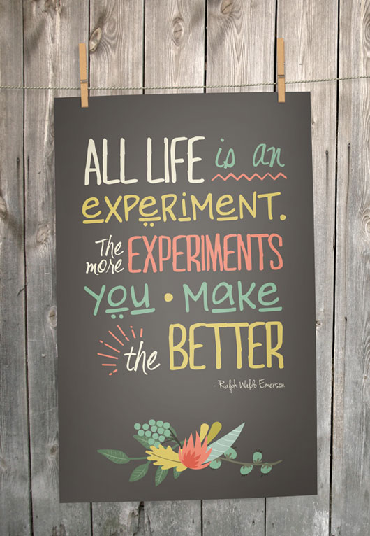 Emerson Quote Typography
