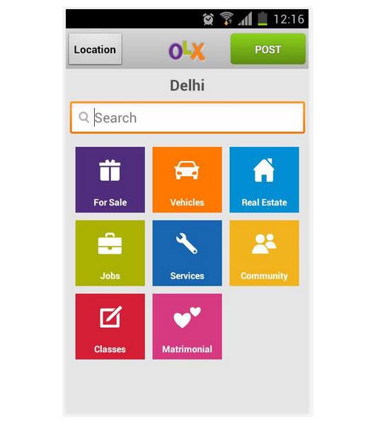 OLX India Search within City