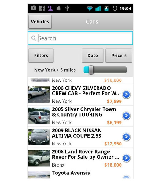 OLX Search Filters