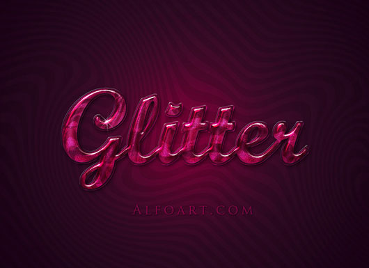 Extremely glossy and shiny text effect