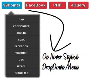 Fancy Drop Down Menus Using CSS and JQuery.