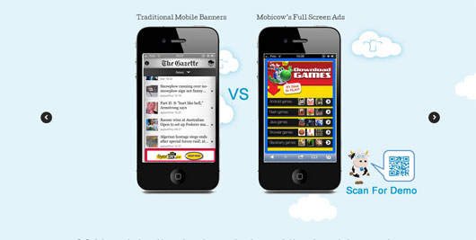 MobiCow Full Screen Mobile Ads
