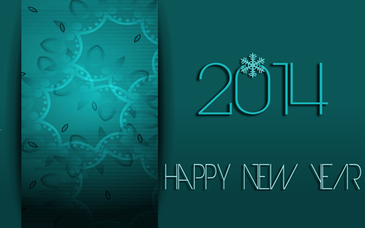 2014 New Year Abstract Design