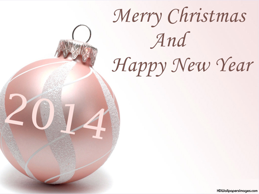 2014 New Year And Christmas Wallpaper
