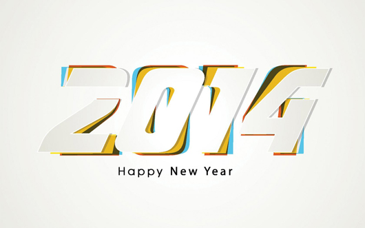 2014 New Year Widescreen Background