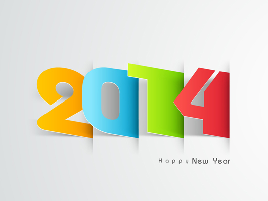 3D Art of New Year 2014