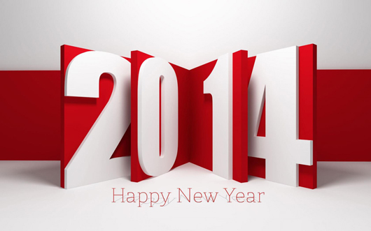 Amazing 3D Art of New Year 2014 Greetings