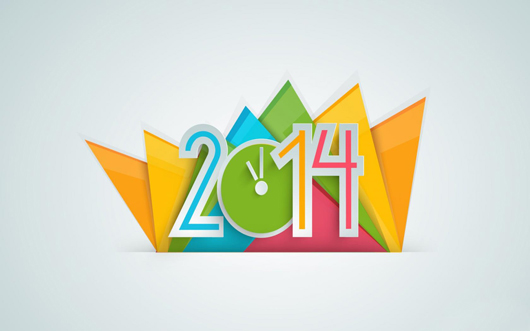 Creative Graphics of New Year 2014 Greetings