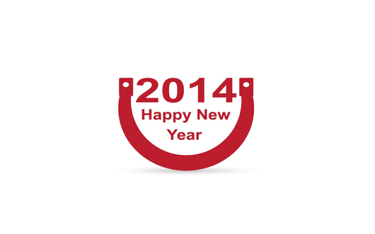 Cute and Simple Art of New Year 2014 Wishes