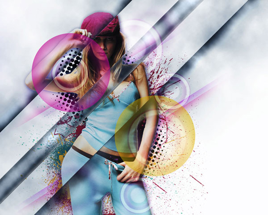 Design a Stylish Poster mixed with displacement effect in Photoshop CS5