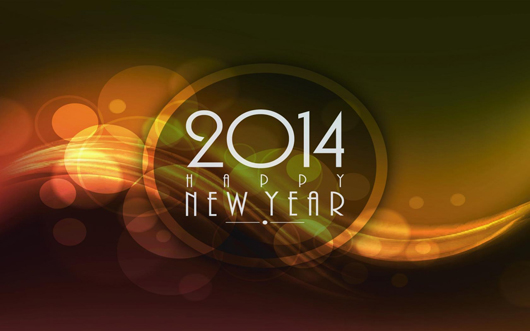Digital Abstract Design of New Year 2014