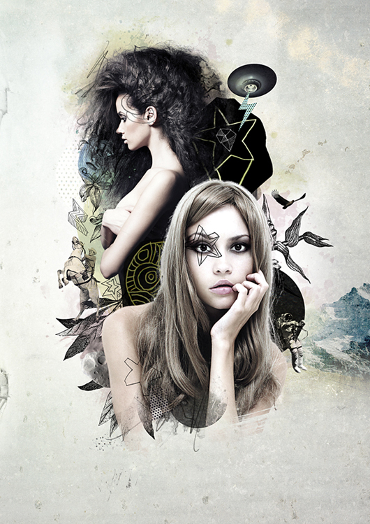 Free Psd Premium Tutorial: Create a Mixed Style Collage