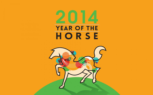 Happy 2014 Horse Year Wishes HD Wallpaper