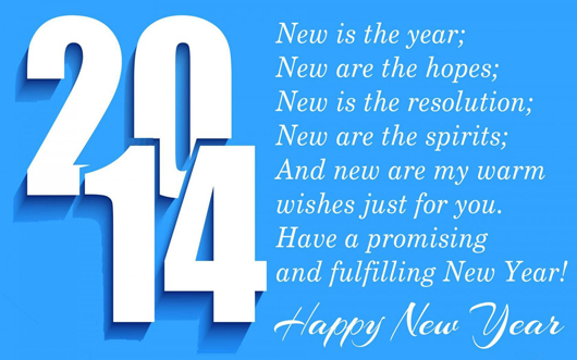 New Year 2014 Greetings With Quotes