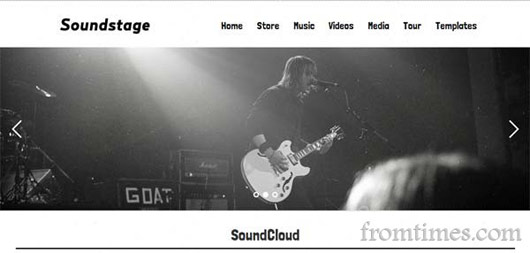 Soundstage Blogger Template For Bands/Musicians