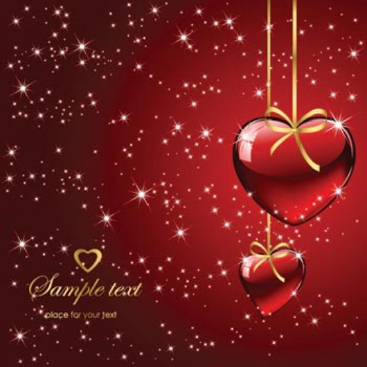 Background red love cards