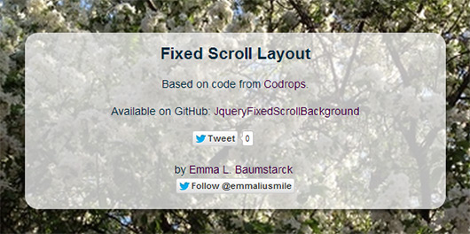 jQuery Fixed Scroll Background